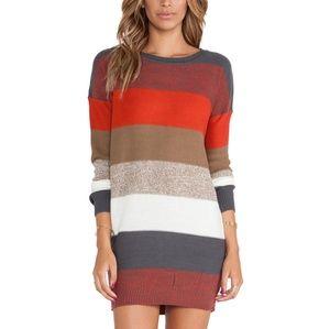 Jack by bb Dakota M striped sweater dress
